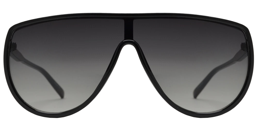 8885 - One Piece Flat Top Sunglasses