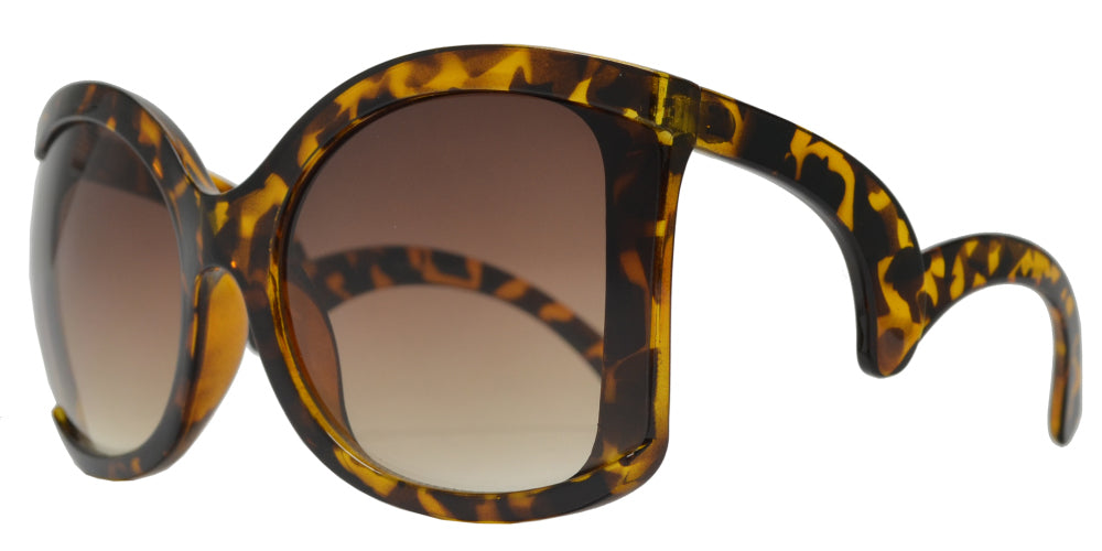 7976 - Large Square Butterfly Sunglasses