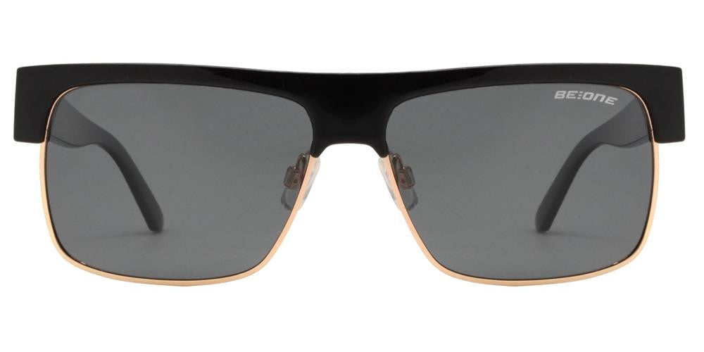 Wholesale - PL Desert - Polarized Men Flat Top Half Rimmed Rectangular Plastic Sunglasses - Dynasol Eyewear