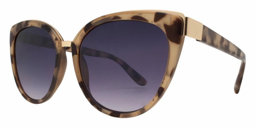 Dynasol Eyewear - Wholesale Sunglasses - FC 6251 - Flat Lens Women Cat Eye Plastic Sunglasses - sunglasses