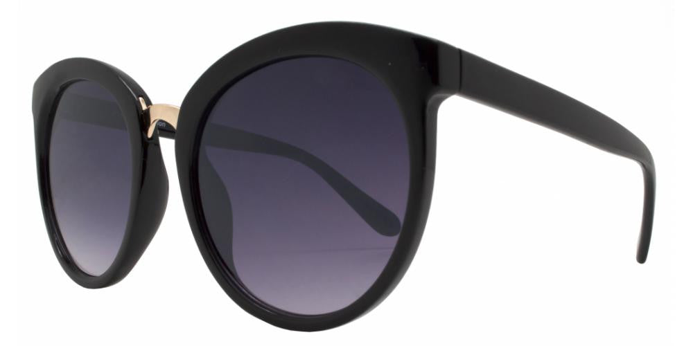 Dynasol Eyewear - Wholesale Sunglasses - FC 6254 - Retro Round Horn Rimmed Plastic Sunglasses - sunglasses