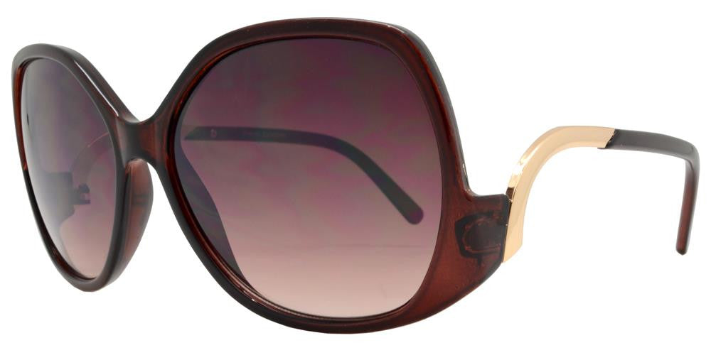 Dynasol Eyewear - Wholesale Sunglasses - FC 6289 - Oversize Cruved Temple Women's Plastic Sunglasses - sunglasses