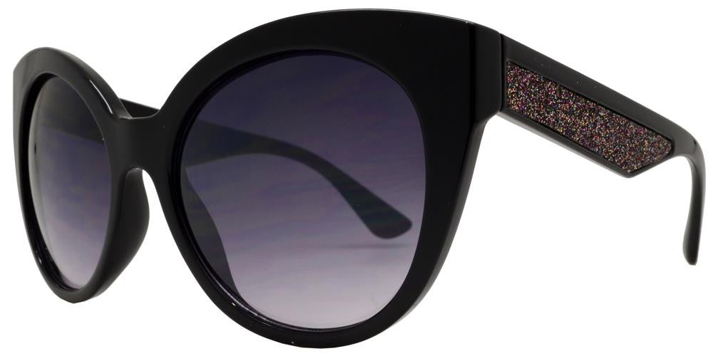 Dynasol Eyewear - Wholesale Sunglasses - FC 6311 - Cat Eye Glitter Accent Women Plastic Sunglasses - sunglasses