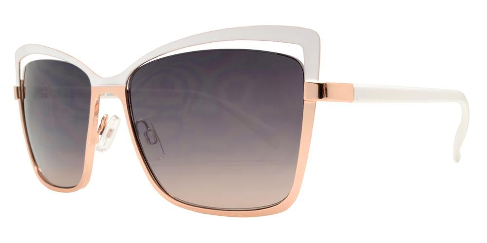 Dynasol Eyewear - Wholesale Sunglasses - FC 6316 - Square Cat Eye Women Metal Sunglasses - sunglasses