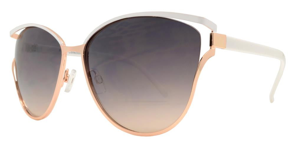 Wholesale - FC 6317 - Cat Eye Women Metal Sunglasses - Dynasol Eyewear