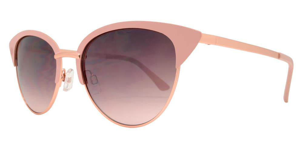 Dynasol Eyewear - Wholesale Sunglasses - FC 6329 - Pointy Cat Eye Half Rimmed Women Metal Sunglasses - sunglasses