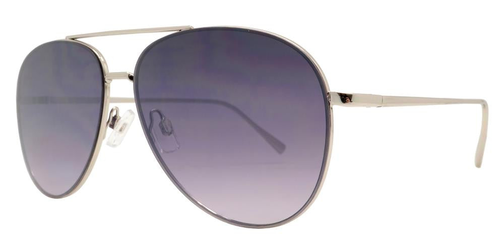 Dynasol Eyewear - Wholesale Sunglasses - FC 6336 - Flat Lens Brow Bar Aviator Metal Sunglasses - sunglasses