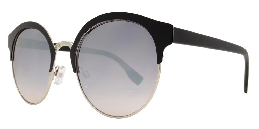 Dynasol Eyewear - Wholesale Sunglasses - FC 6338 - Retro Horn Rimmed Round Metal Sunglasses - sunglasses