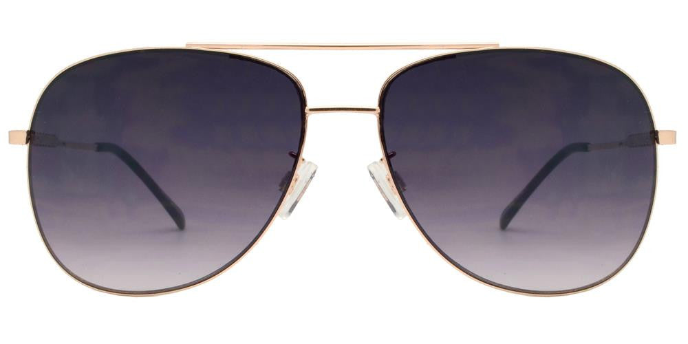 Wholesale - FC 6000 - Metal Oval Shaped Sunglasses - Dynasol Eyewear