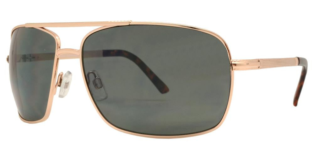 Dynasol Eyewear - Wholesale Sunglasses - FC 6003 - Square Aviator Men Metal Sunglasses - sunglasses