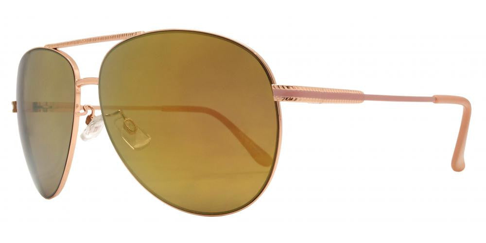 Wholesale - FC 6008 RVC - Oval Shaped Sunglasses with Color Mirror Lens - Dynasol Eyewear