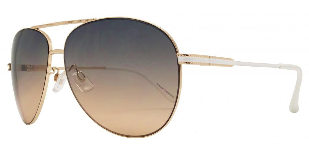 Dynasol Eyewear - Wholesale Sunglasses - FC 6008 - Aviator with Brow Bar Metal Sunglasses - sunglasses