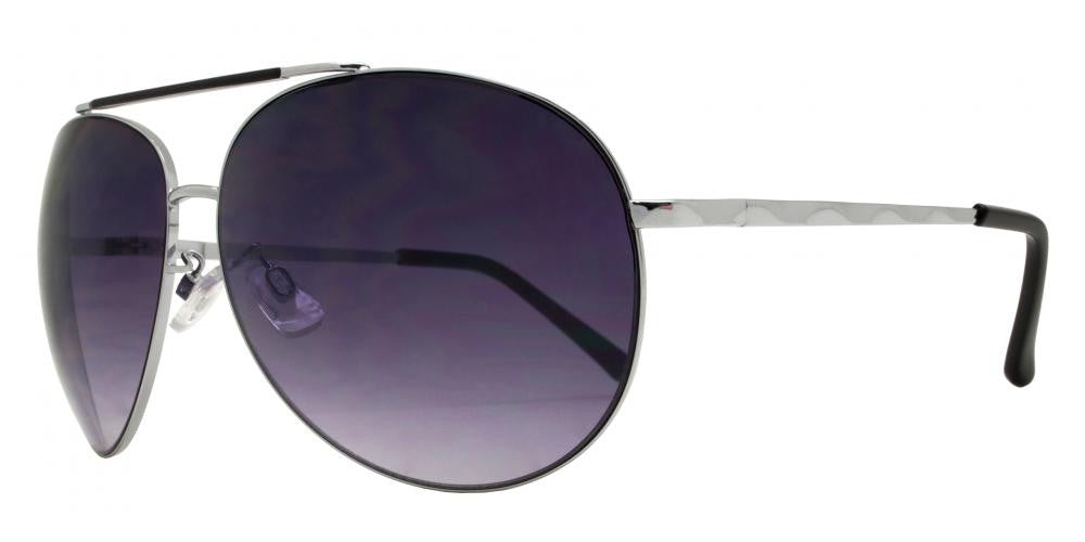 Dynasol Eyewear - Wholesale Sunglasses - FC 6009 - Aviator with Brow Bar Metal Sunglasses - sunglasses
