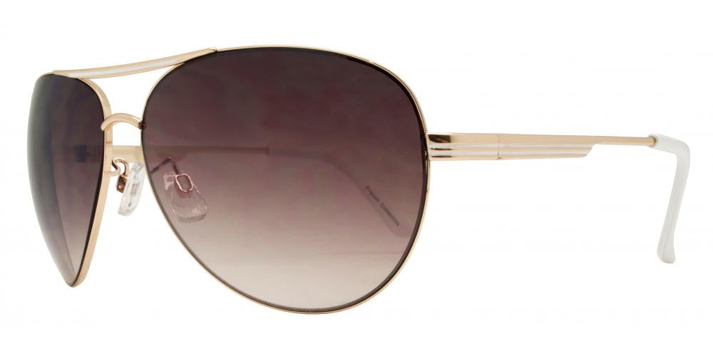 Dynasol Eyewear - Wholesale Sunglasses - FC 6011 - Aviator with Brow Bar Metal Sunglasses - sunglasses
