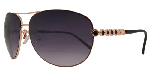 Wholesale - FC 6014 - Women Metal Oval Shaped Sunglasses - Dynasol Eyewear