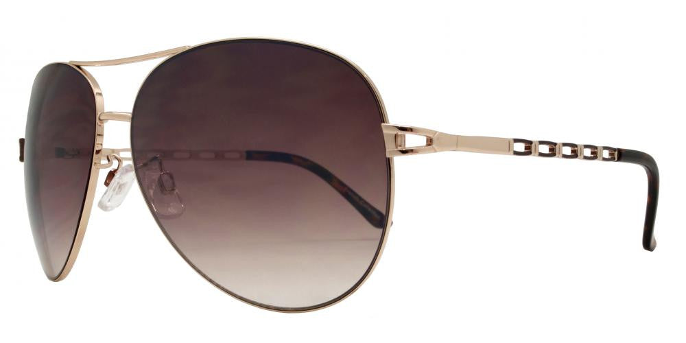 Wholesale - FC 6023 - Women Metal Oval Shaped Sunglasses - Dynasol Eyewear