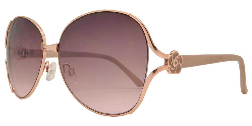 Dynasol Eyewear - Wholesale Sunglasses - FC 6028 - Butterfly Women Metal Sunglasses - sunglasses
