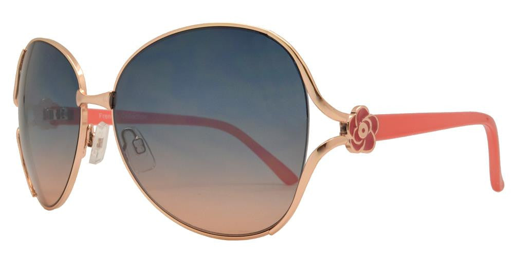 Wholesale - FC 6028 - Butterfly Women Metal Sunglasses - Dynasol Eyewear