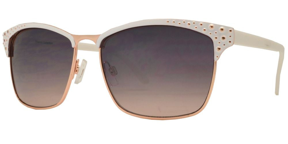 Dynasol Eyewear - Wholesale Sunglasses - FC 6041 - Retro Square Women Metal Sunglasses - sunglasses