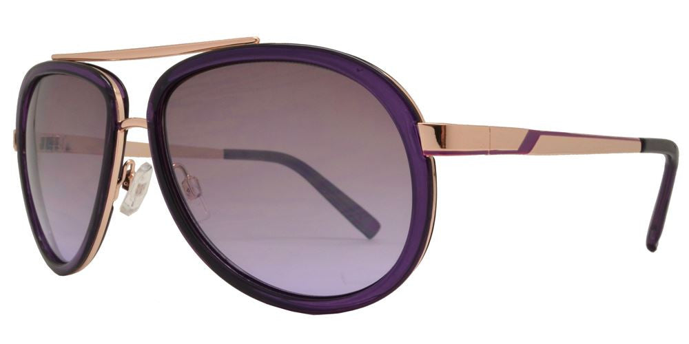 Dynasol Eyewear - Wholesale Sunglasses - FC 6046 - Brow Bar Aviator Plastic Sunglasses - sunglasses