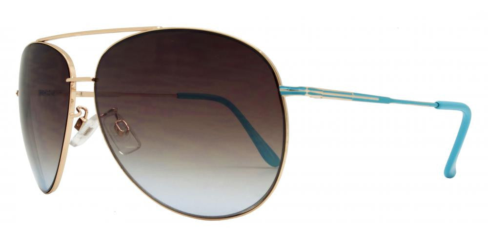 Dynasol Eyewear - Wholesale Sunglasses - FC 6059 - Aviator with Brow Bar Metal Sunglasses - sunglasses
