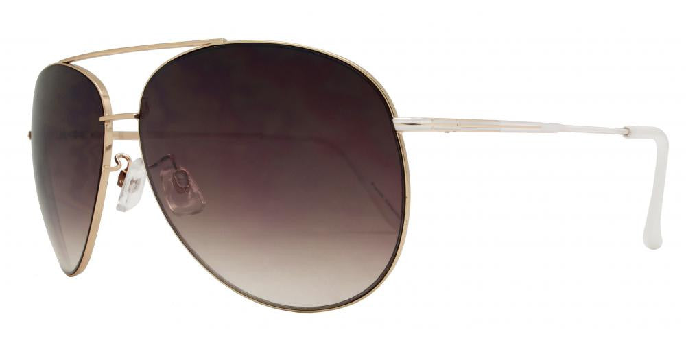 Wholesale - FC 6059 - Oval Shaped with Brow Bar Metal Sunglasses - Dynasol Eyewear