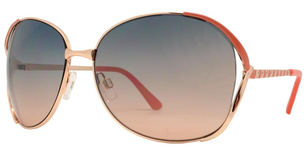 Dynasol Eyewear - Wholesale Sunglasses - FC 6060 - Butterfly Women Metal Sunglasses - sunglasses