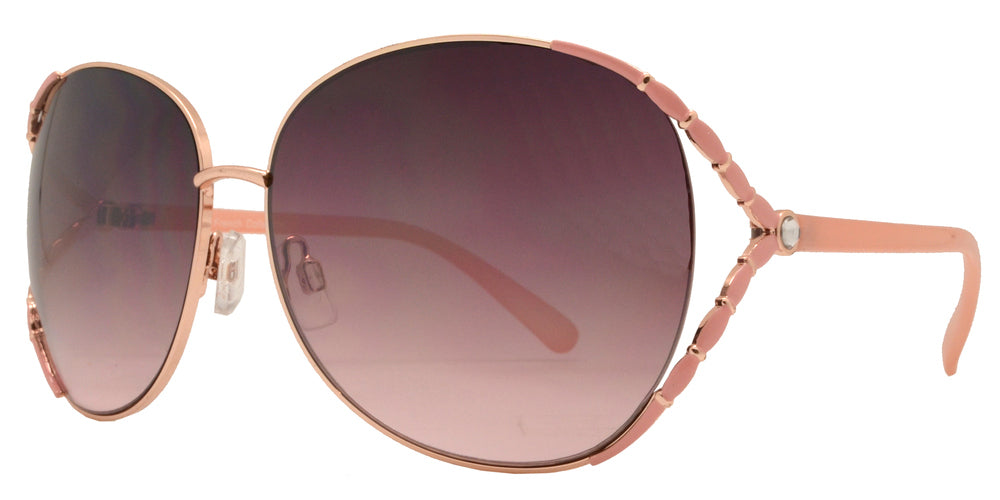 Dynasol Eyewear - Wholesale Sunglasses - FC 6061 - Butterly Rhinestone Women Metal Sunglasses - sunglasses