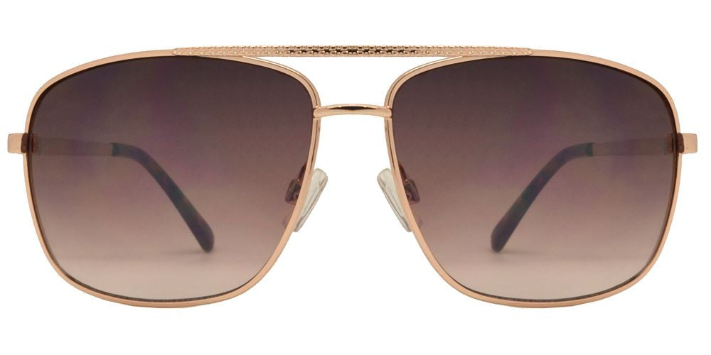 Wholesale - FC 6081 - Rectangular Aviator Men Metal Sunglasses - Dynasol Eyewear