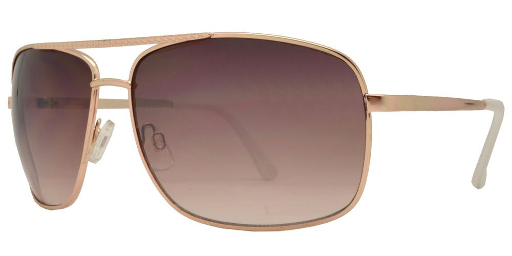 Dynasol Eyewear - Wholesale Sunglasses - FC 6081 - Rectangular Aviator Men Metal Sunglasses - sunglasses