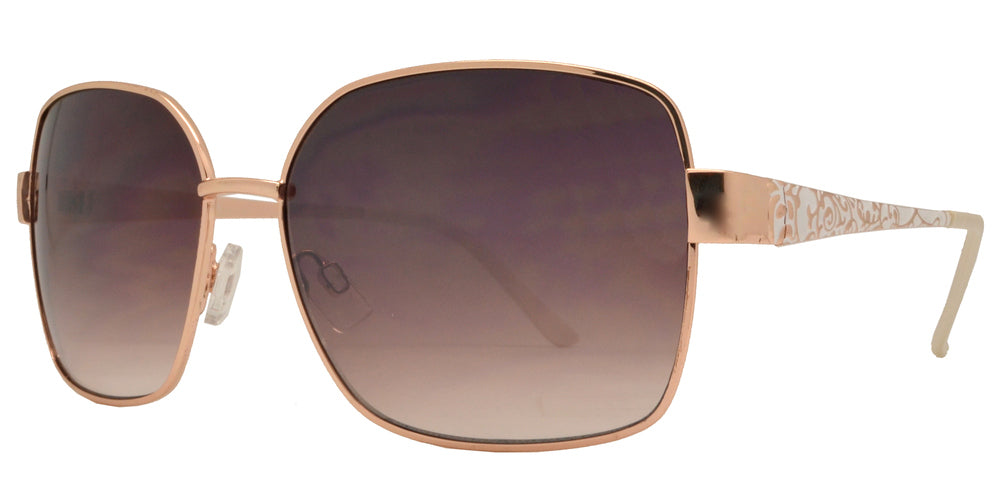 Wholesale - FC 6090 - Modern Square Women Metal Sunglasses - Dynasol Eyewear
