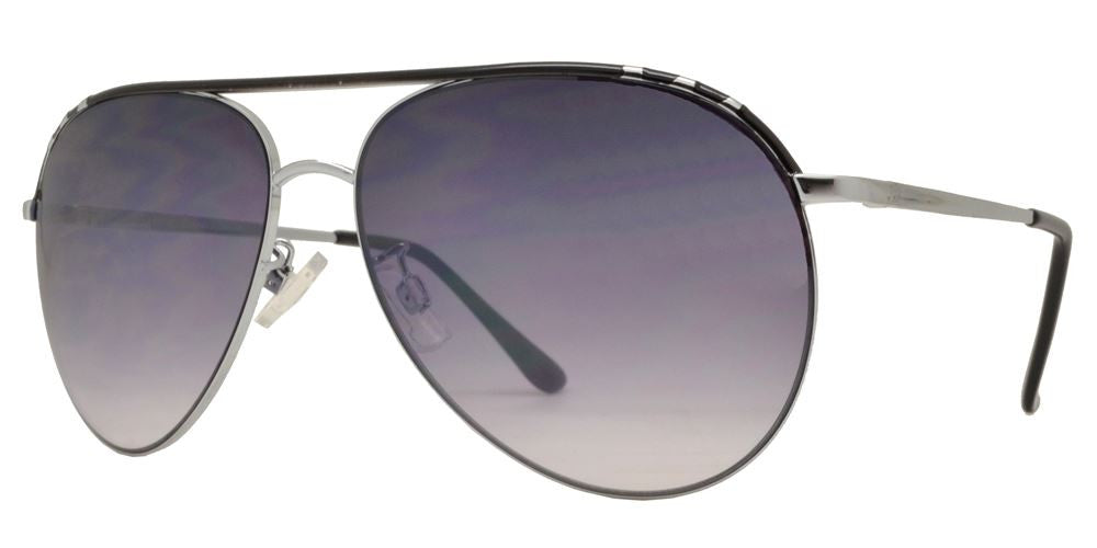 Wholesale - FC 6103 - Brow Bar Oval Shaped Metal Sunglasses - Dynasol Eyewear