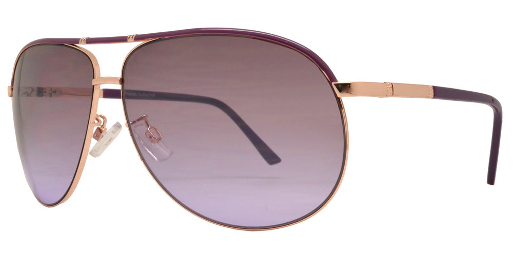 Wholesale - FC 6106 - Modern Oval Shaped Metal Sunglasses - Dynasol Eyewear