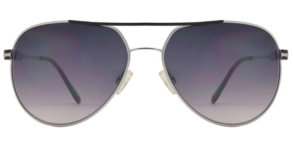 Dynasol Eyewear - Wholesale Sunglasses - FC 6115 - Retro Brow Bar Aviator Metal Sunglasses - sunglasses