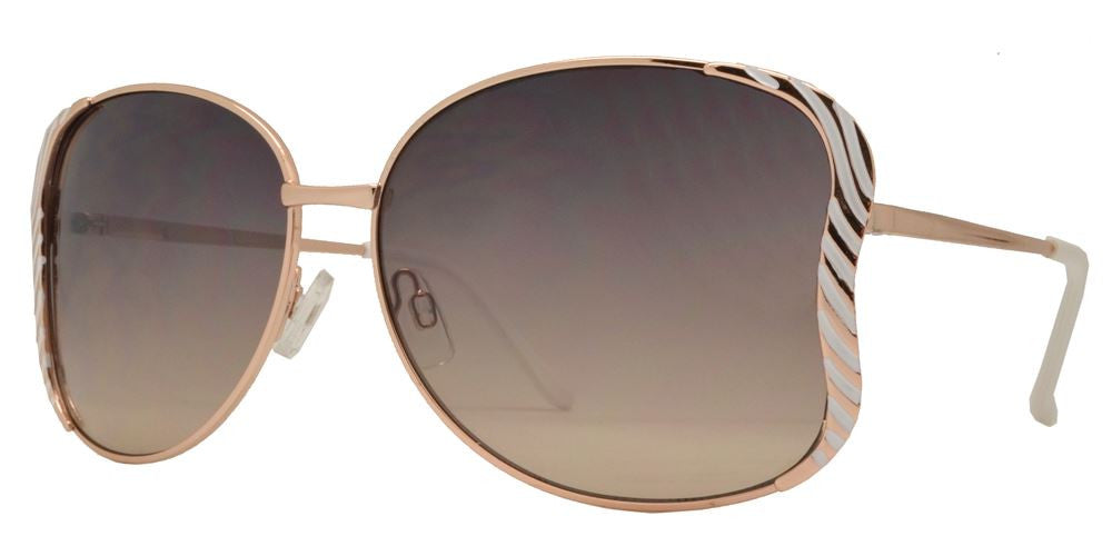 Dynasol Eyewear - Wholesale Sunglasses - FC 6117 - Butterfly Shape Women Metal Sunglasses - sunglasses