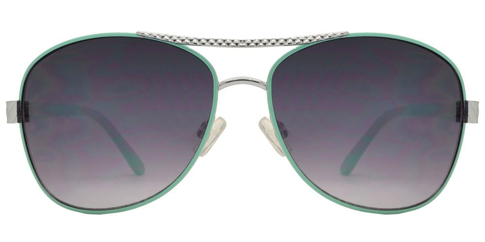 Dynasol Eyewear - Wholesale Sunglasses - FC 6131 - Square Aviator Women Metal Sunglasses - sunglasses