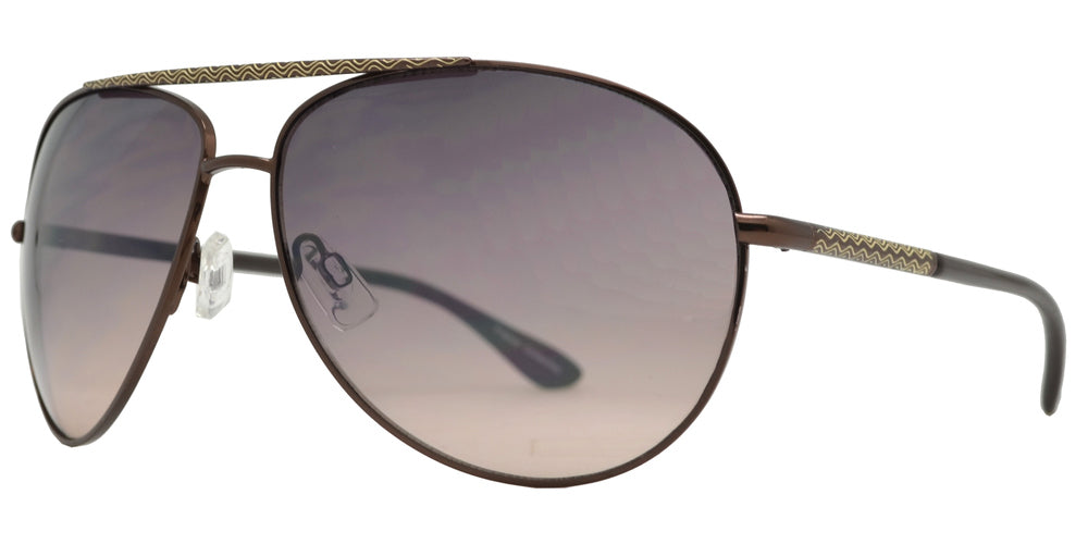 FC 6134 - Brow Bar Aviator Metal Sunglasses