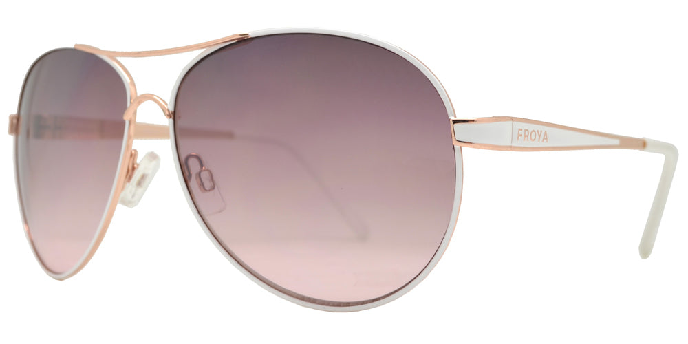 Dynasol Eyewear - Wholesale Sunglasses - FC 6136 - Brow Bar Aviator Women Metal Sunglasses - sunglasses