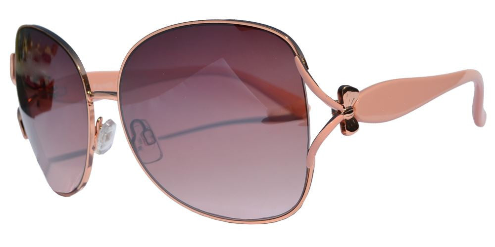 Wholesale - FC 6144 - Women Butterfly Bow Accent Metal Sunglasses - Dynasol Eyewear
