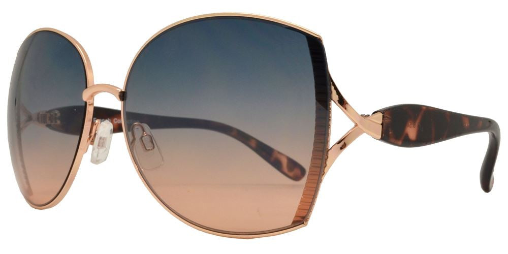 Dynasol Eyewear - Wholesale Sunglasses - FC 6145 - Classic Butterfly Women Fashion Metal Sunglasses - sunglasses