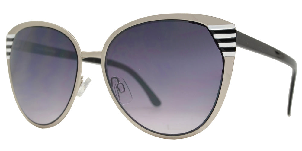 FC 6146 - Retro Cat Eye Women Metal Sunglasses