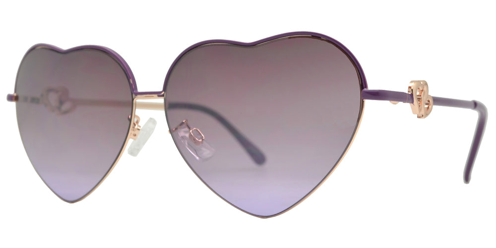 Dynasol Eyewear - Wholesale Sunglasses - FC 6152 - Heart Shape Women Metal Sunglasses - sunglasses