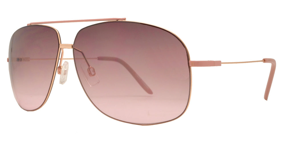 Dynasol Eyewear - Wholesale Sunglasses - FC 6153 - Thin Square Aviator Metal Sunglasses - sunglasses