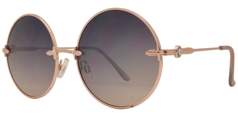 Wholesale - FC 6162 - Round Women Metal Sunglasses - Dynasol Eyewear