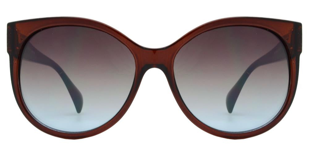 Wholesale - FC 6177 - Round Horned Rimmed Women Plastic Sunglasses - Dynasol Eyewear