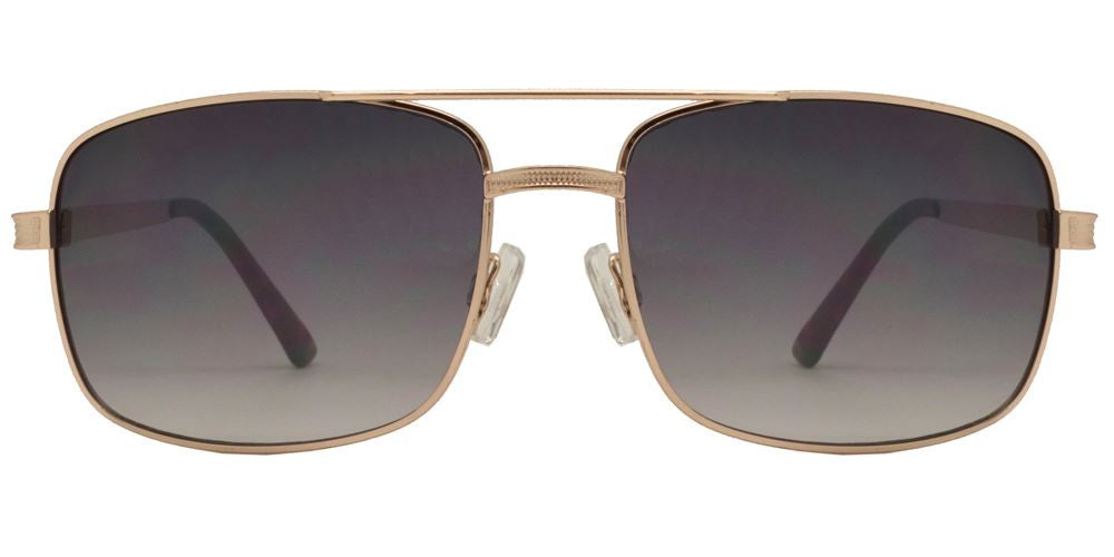 Dynasol Eyewear - Wholesale Sunglasses - FC 6225 - Square Aviator Men Metal Sunglasses - sunglasses