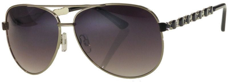 Wholesale - FC 6231 - Women Metal Oval Shaped Sunglasses - Dynasol Eyewear