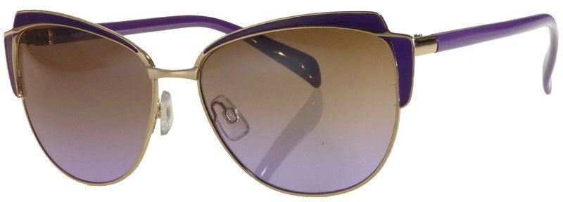Wholesale - FC 6240 - Cat Eye Women Fashion Metal Sunglasses - Dynasol Eyewear