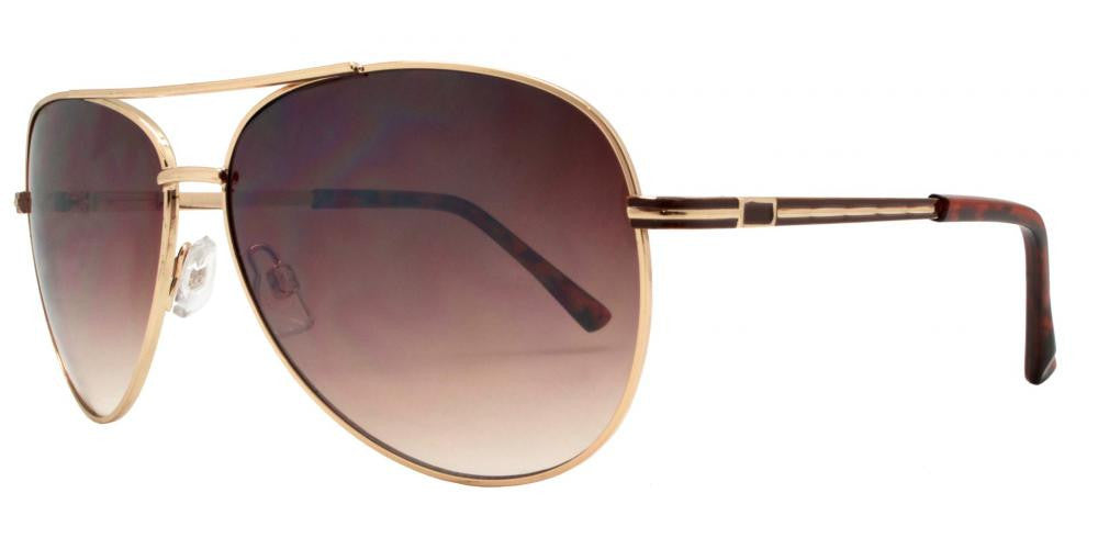 Dynasol Eyewear - Wholesale Sunglasses - FC 6246 - Brow Bar Aviator Metal Sunglasses - sunglasses