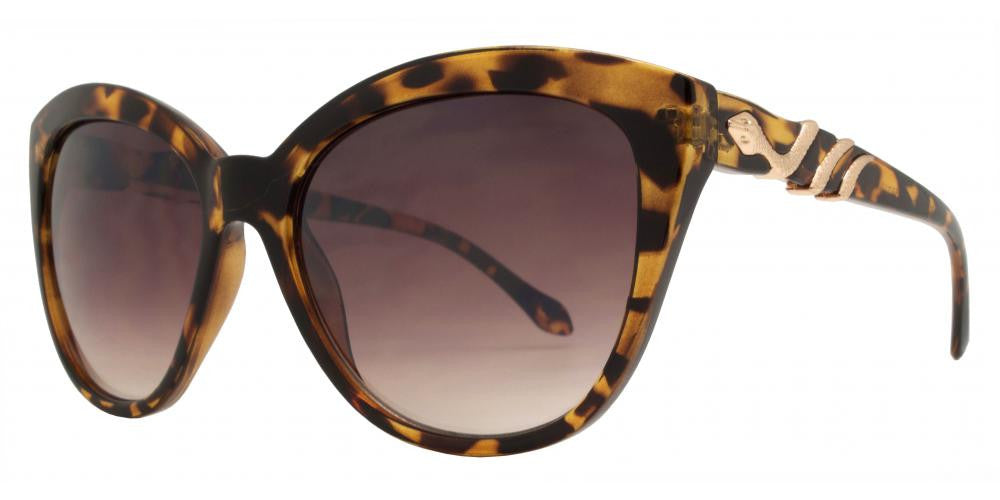 Dynasol Eyewear - Wholesale Sunglasses - FC 6268 - Cat Eye Snake Temple Women Plastic Sunglasses - sunglasses